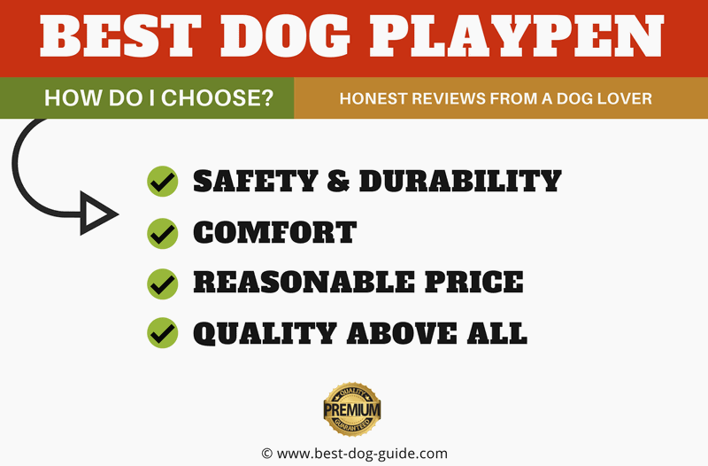 best dog playpen info-graphic